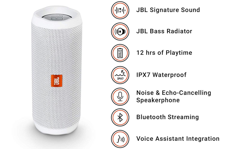 Caixa de Som JBL FLIP 4 Bluetooth Branco
