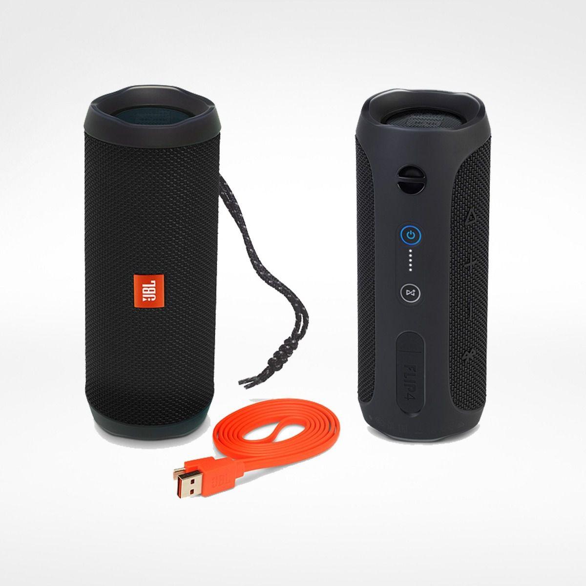 Caixa de Som JBL FLIP 4 Bluetooth Preto