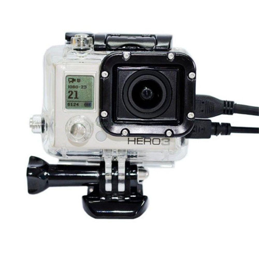 Caixa Estanque Aberta na Lateral para Câmeras GoPro Hero 3