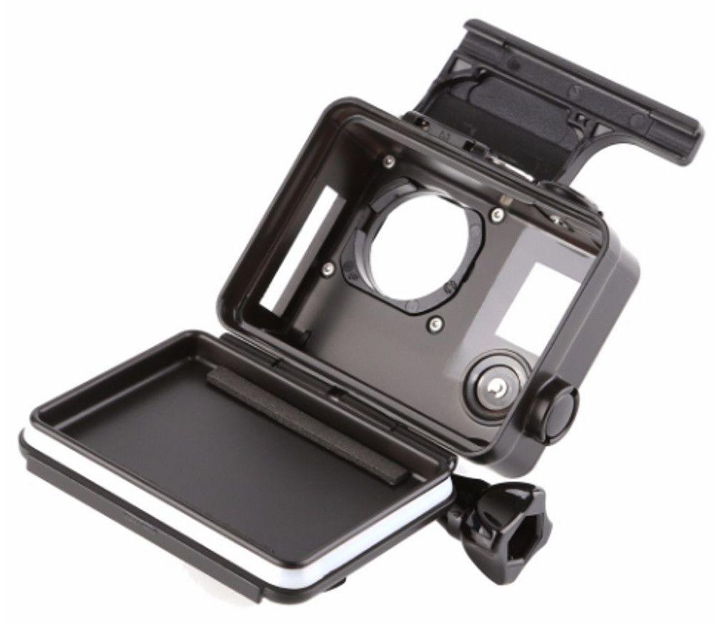 Caixa Estanque Aberta na Lateral - Para GoPro Hero 3/3+/4 - Preta