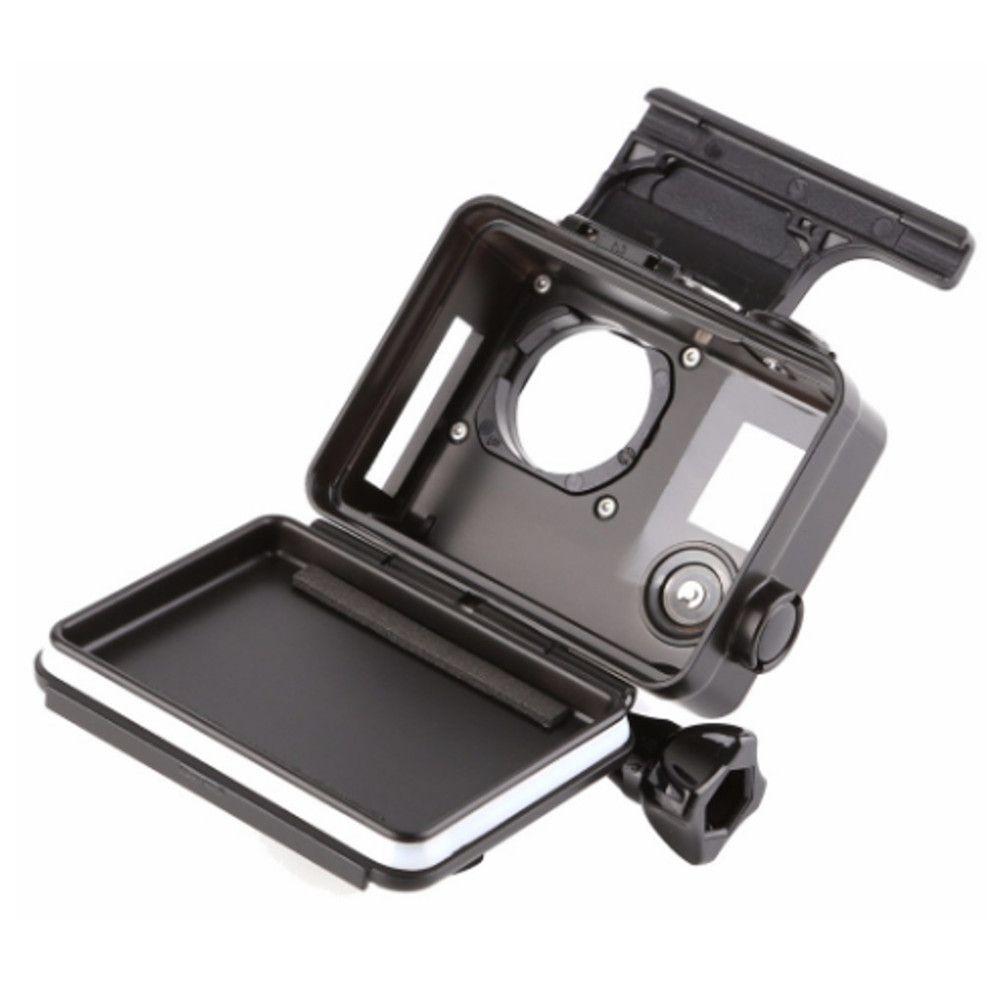 Caixa Estanque Aberta na Lateral para GoPro Hero 3/3+/4 - Preta