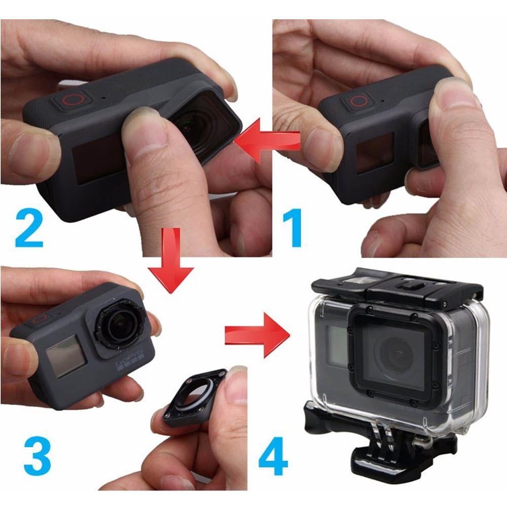 Caixa Estanque Aberta na Lateral para GoPro Hero 5, 6, 7 Black