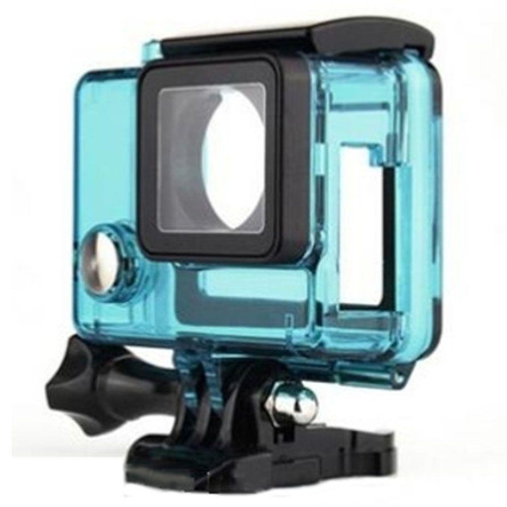 Caixa Estanque Aberta Vazada para GoPro Hero 3, 3+, 4 - Azul