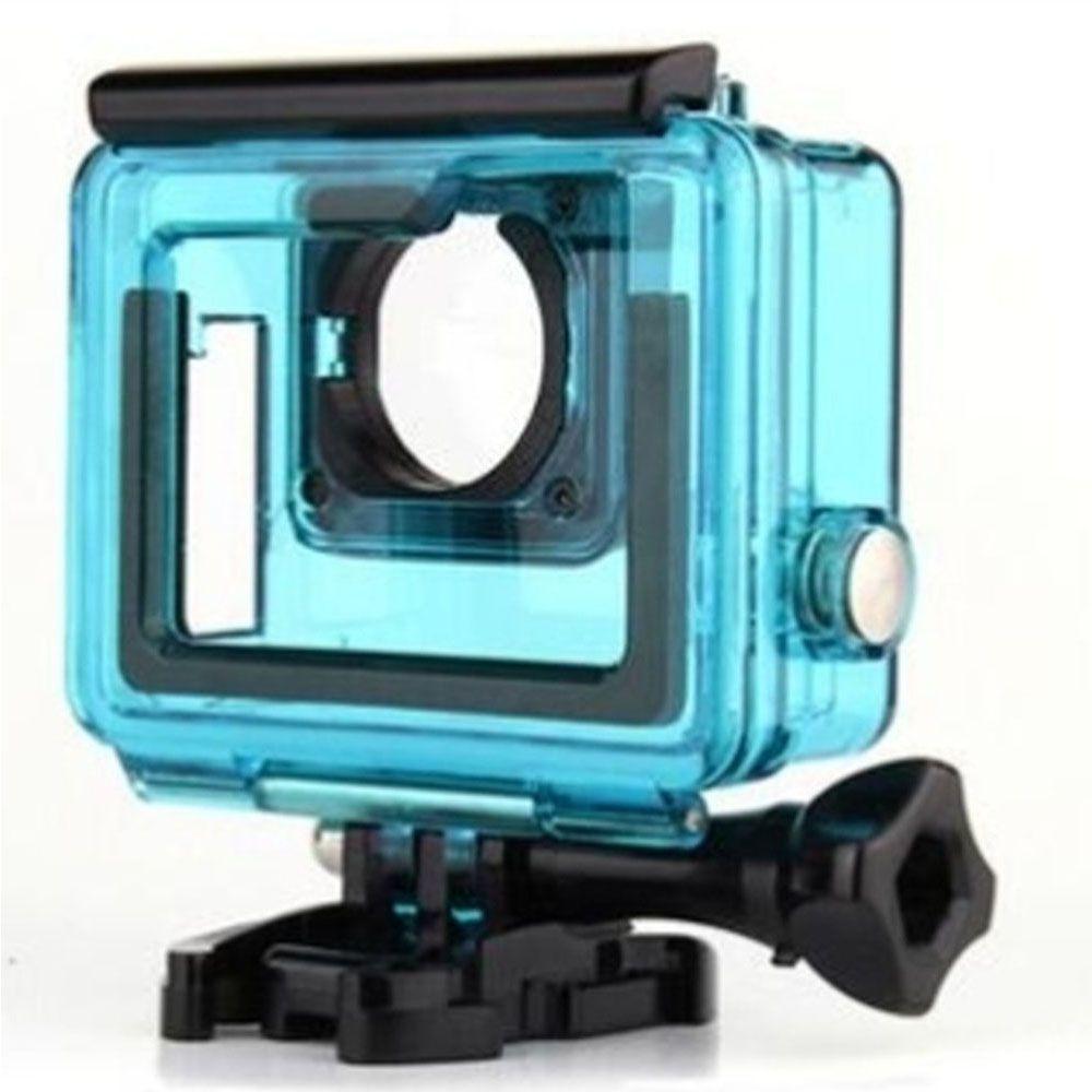 Caixa Estanque GoPro Hero 3, 3+, 4 aberta cor Azul