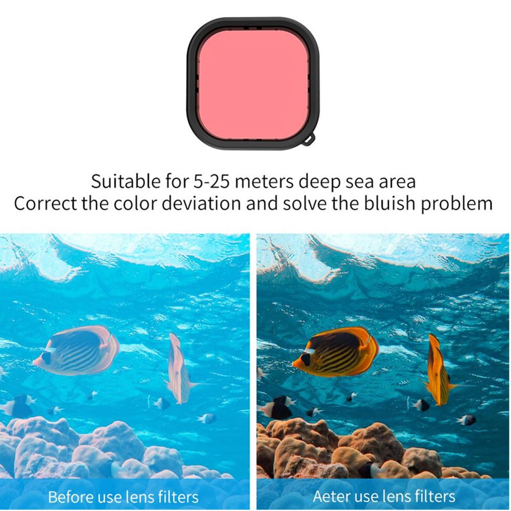 Caixa Estanque + Kit Filtros Telesin para GoPro 9 Black