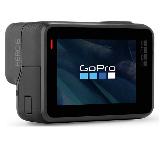 Câmera de Ação GoPro Hero 6 Black Prova D'Agua 12MP 4K Touch Wi-Fi Bluetooth