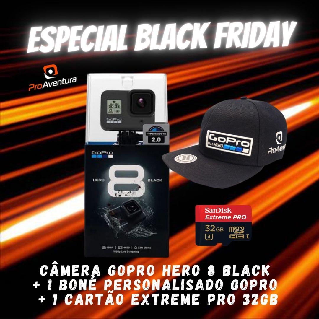 Câmera Digital Gopro Hero8 Black Preto 12.0mp - Chdhx-801