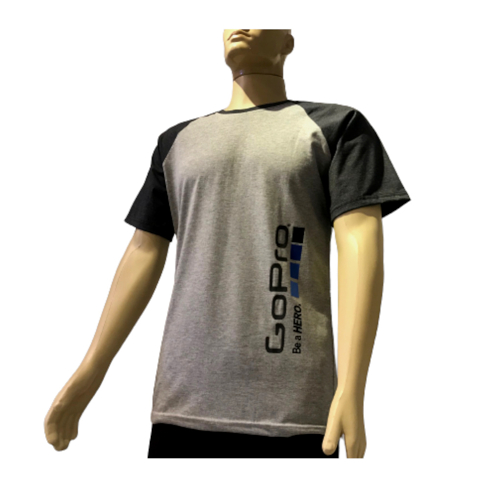 Camiseta personalizada GoPro - Cinza Claro