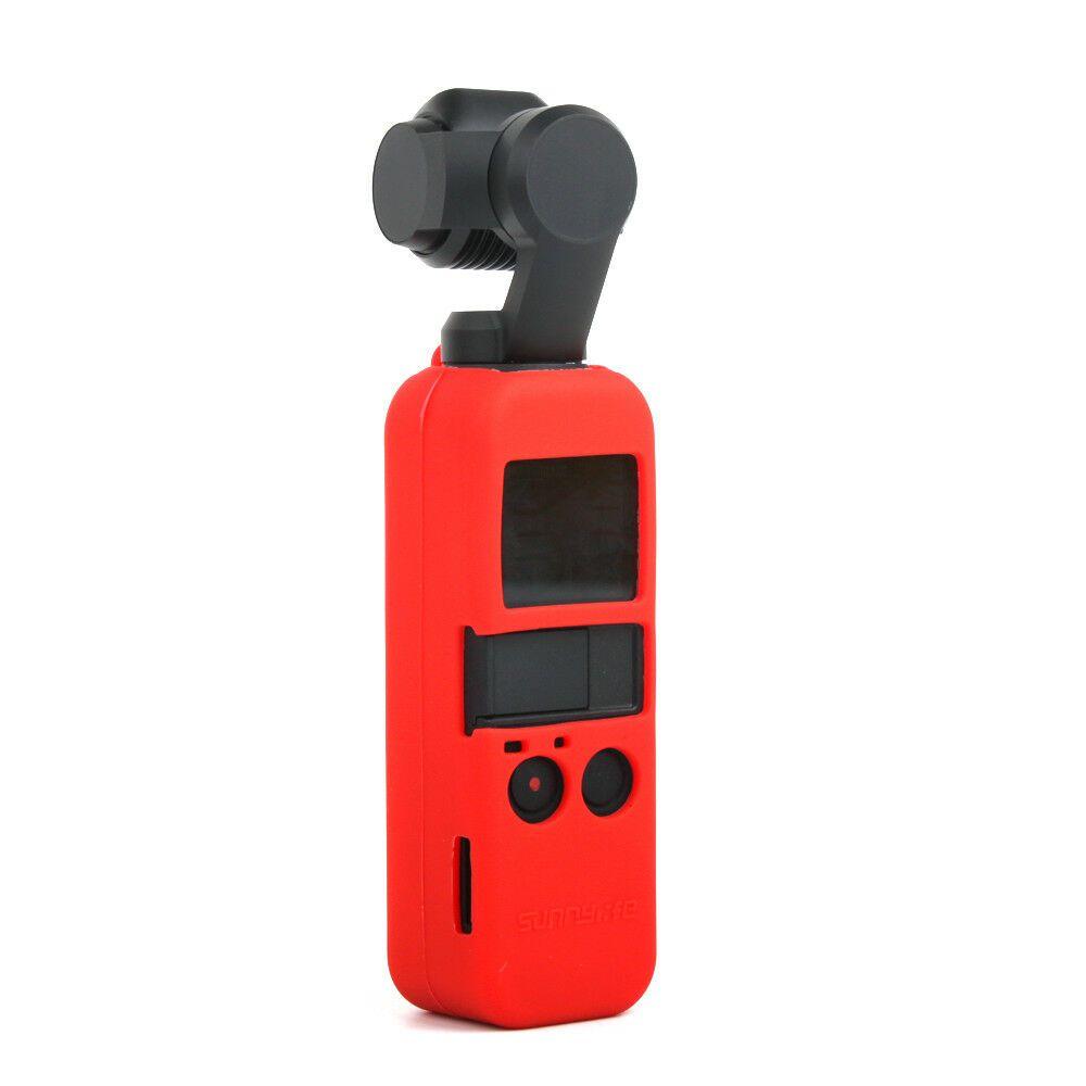 Capa Case em Silicone Vermelho + Cordão para Dji Osmo Pocket