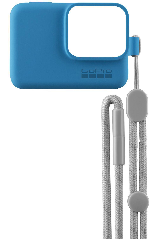 Capa de Silicone + Cordão GoPro Sleeve Azul ACSST-003 Hero 5/6/7