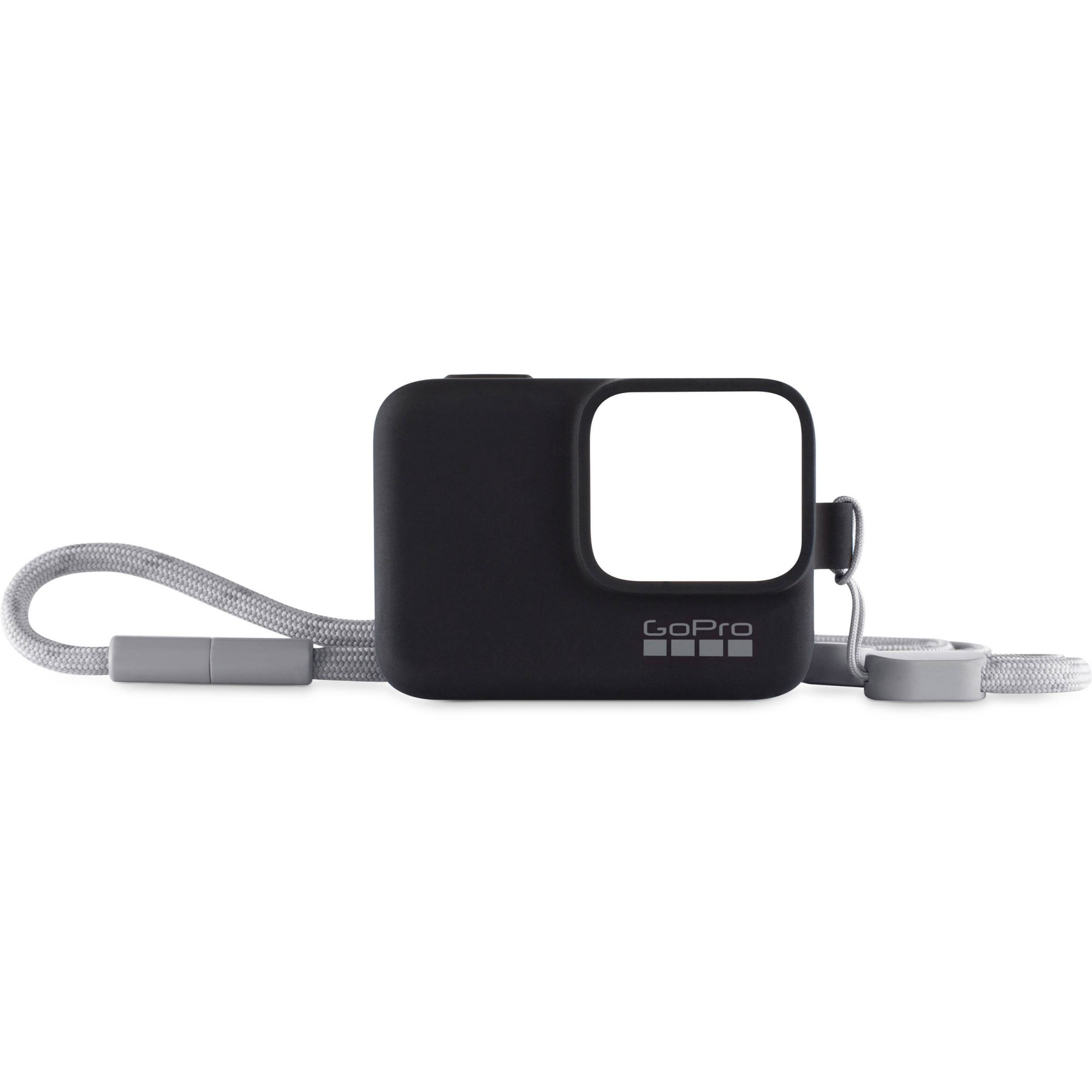 Capa de Silicone + Cordão GoPro Sleeve Preto Original  ACSST-001 Hero 5/6/7