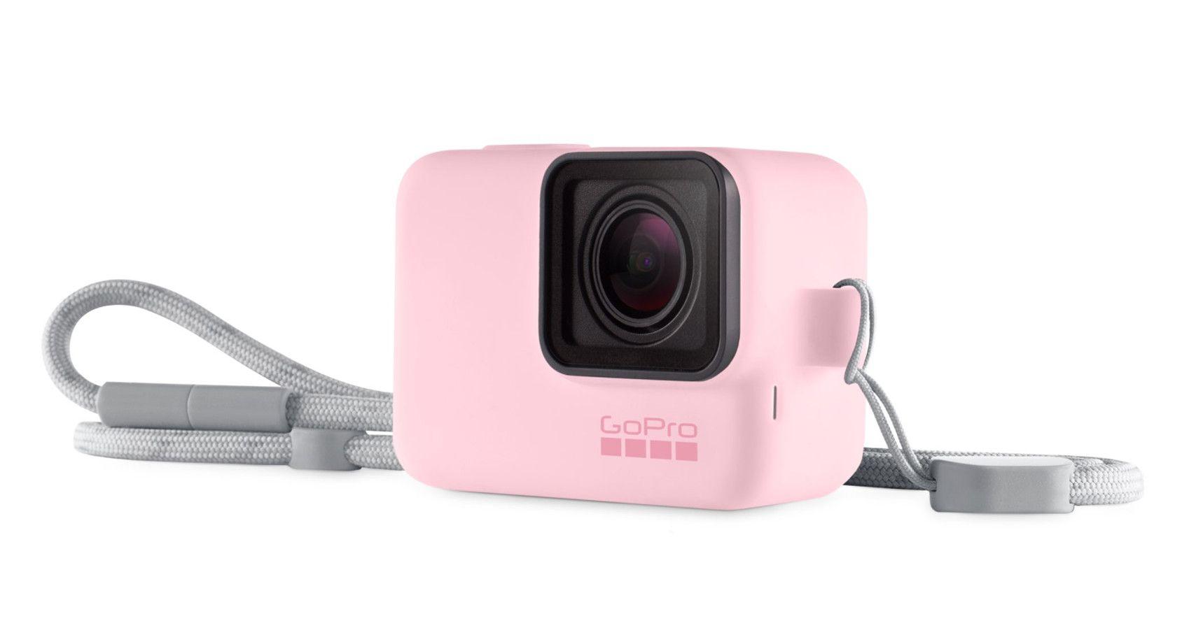 Capa de Silicone + Cordão GoPro Sleeve Rosa Original  ACSST-004 Hero 5/6/7