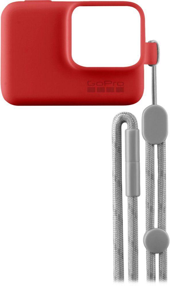 Capa de Silicone + Cordão GoPro Sleeve Vermelho Original  ACSST-005 Hero 5/6/7