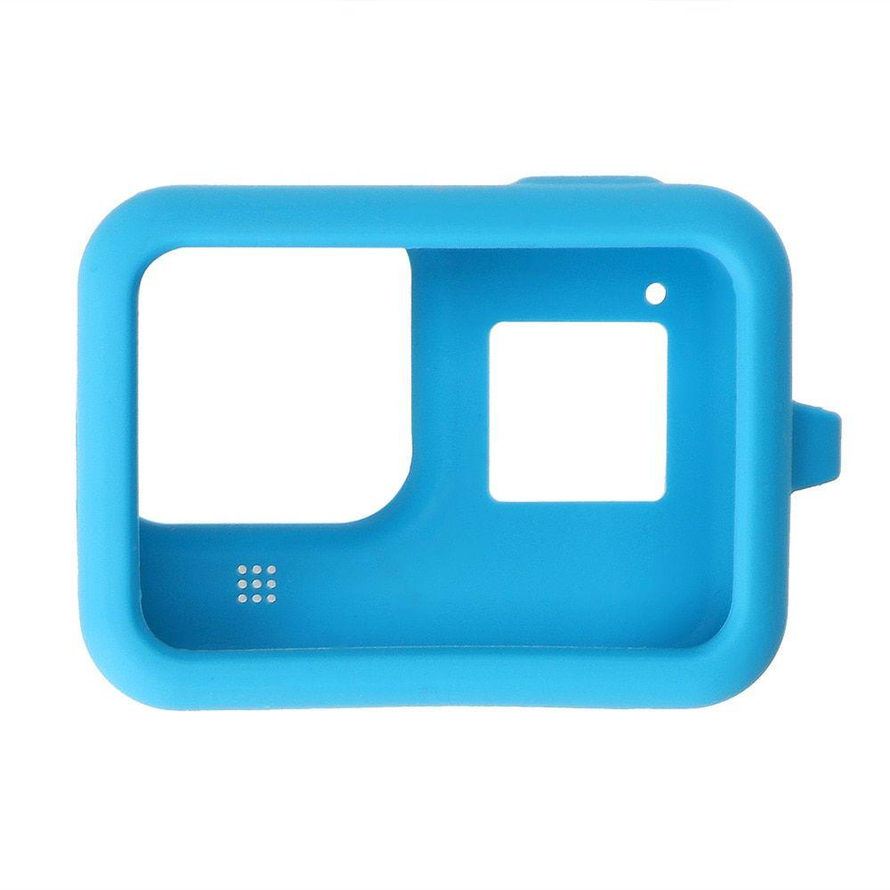 Capa em Silicone Azul + Cordão GoPro Hero 8