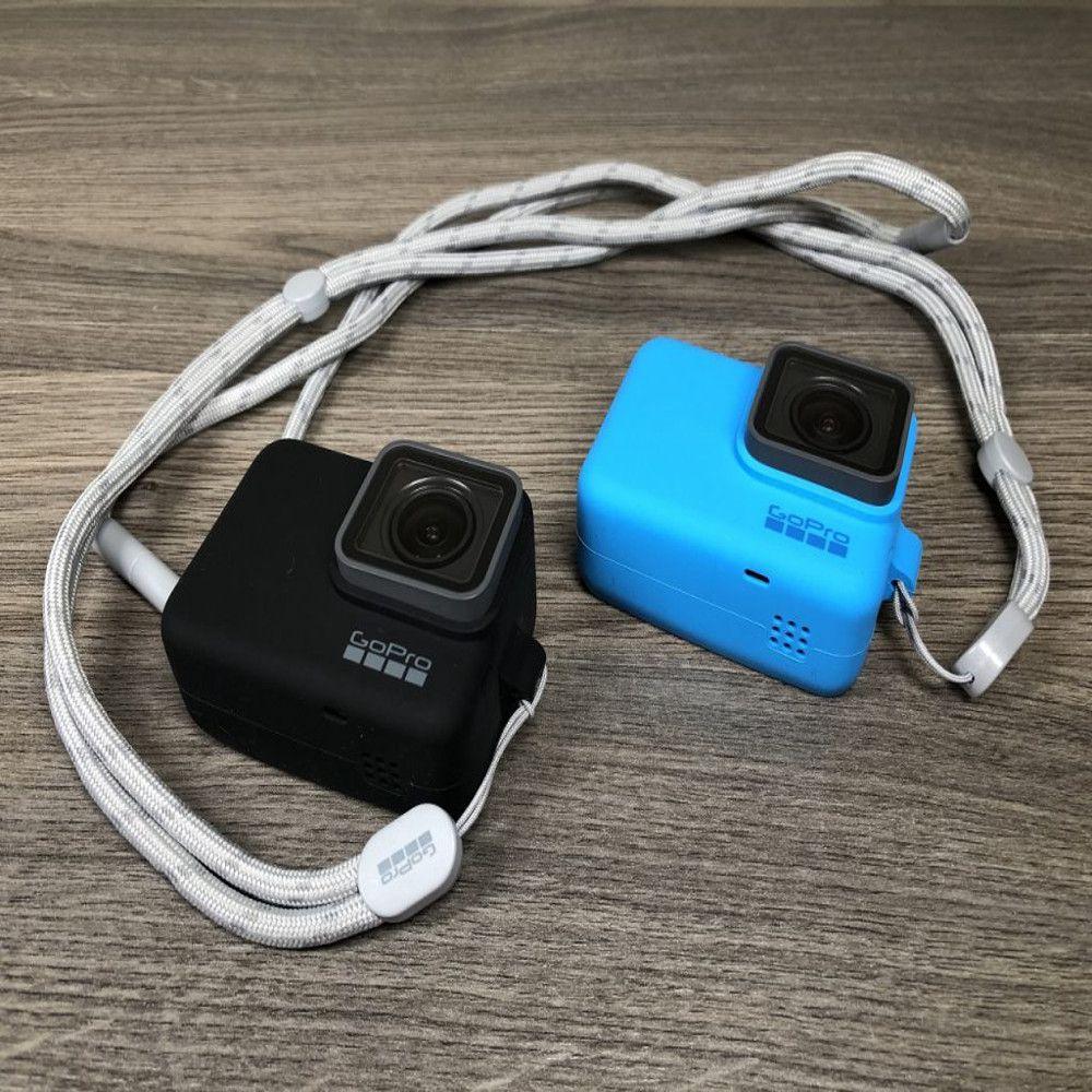 Capa em Silicone Azul + Cordão Sleeve Original GoPro Hero 5/6/7