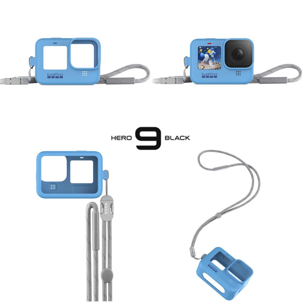 Capa em Silicone Azul Original GoPro 9 Black Sleeve adsst-003