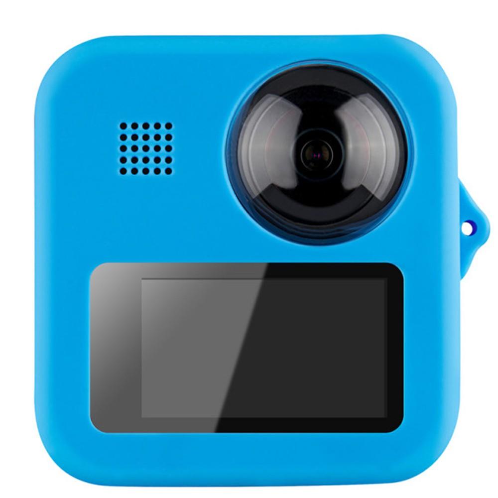 Capa em Silicone Azul + Tampa de Proteção Para GoPro Max