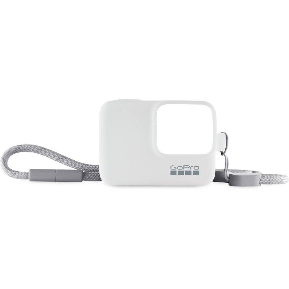 Capa em Silicone Branco + Cordão Sleeve Original GoPro Hero 5/6/7