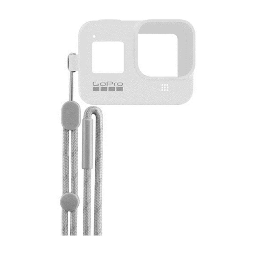 Capa em Silicone Branco + Cordão Sleeve Original GoPro Hero 8