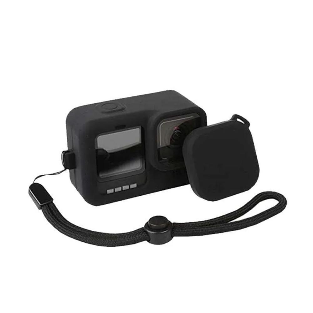 Capa em Silicone Para GoPro 9 e 10 - Preta
