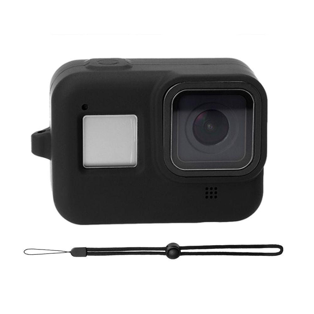 Capa em Silicone Preto + Cordão GoPro Hero 8