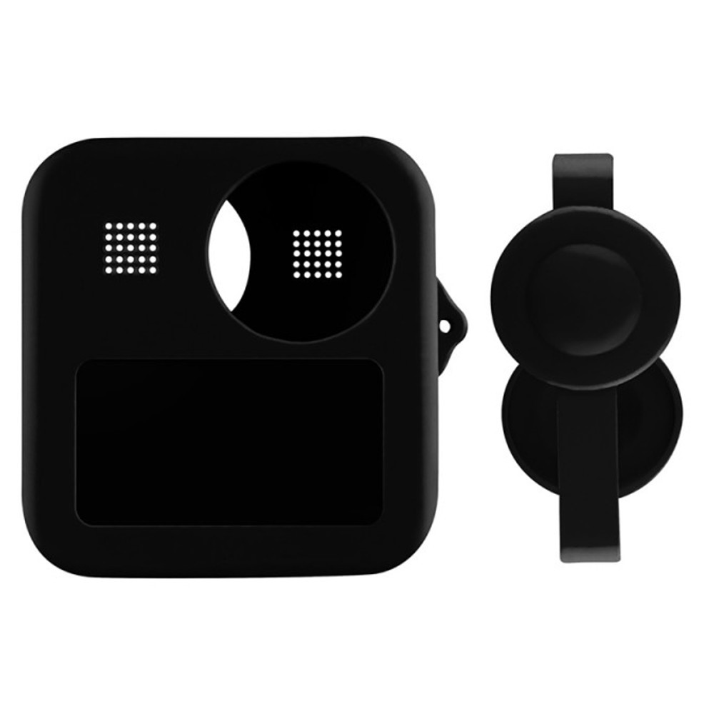 Capa em Silicone Preto + Tampa de Proteção Para GoPro Max