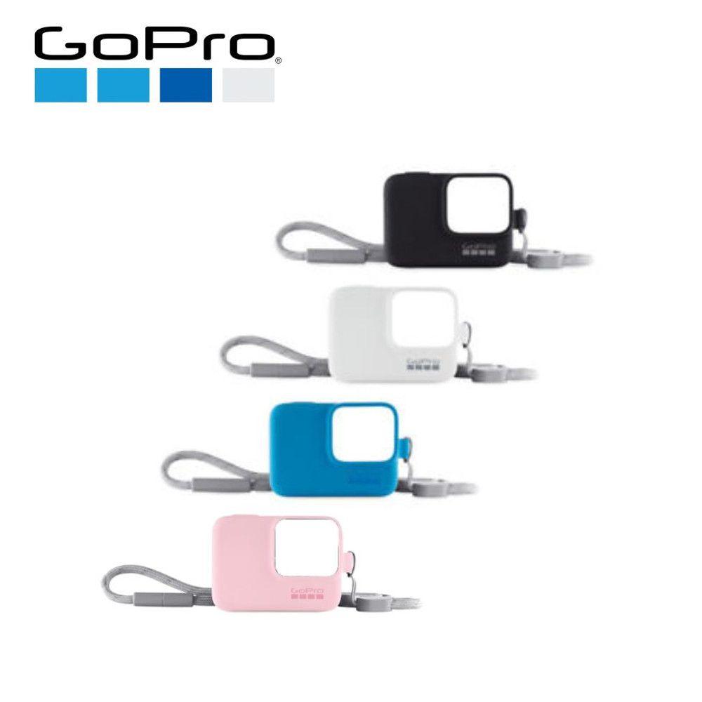 Capa em Silicone Rosa + Cordão Sleeve Original GoPro Hero 5/6/7