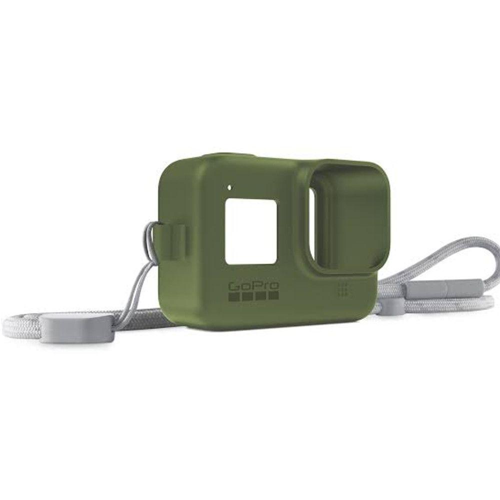 Capa em Silicone Verde + Cordão Sleeve Original GoPro Hero 8