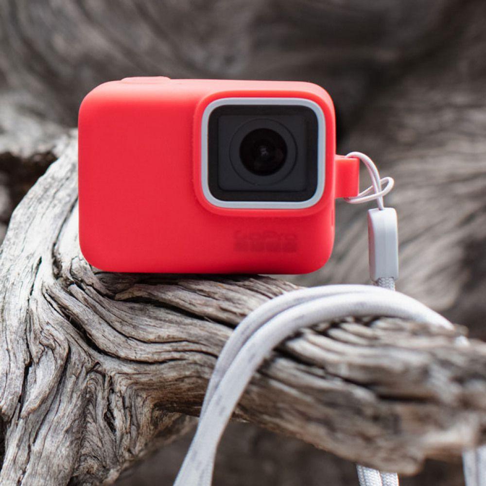 Capa em Silicone Vermelho + Cordão Sleeve Original GoPro Hero 5/6/7