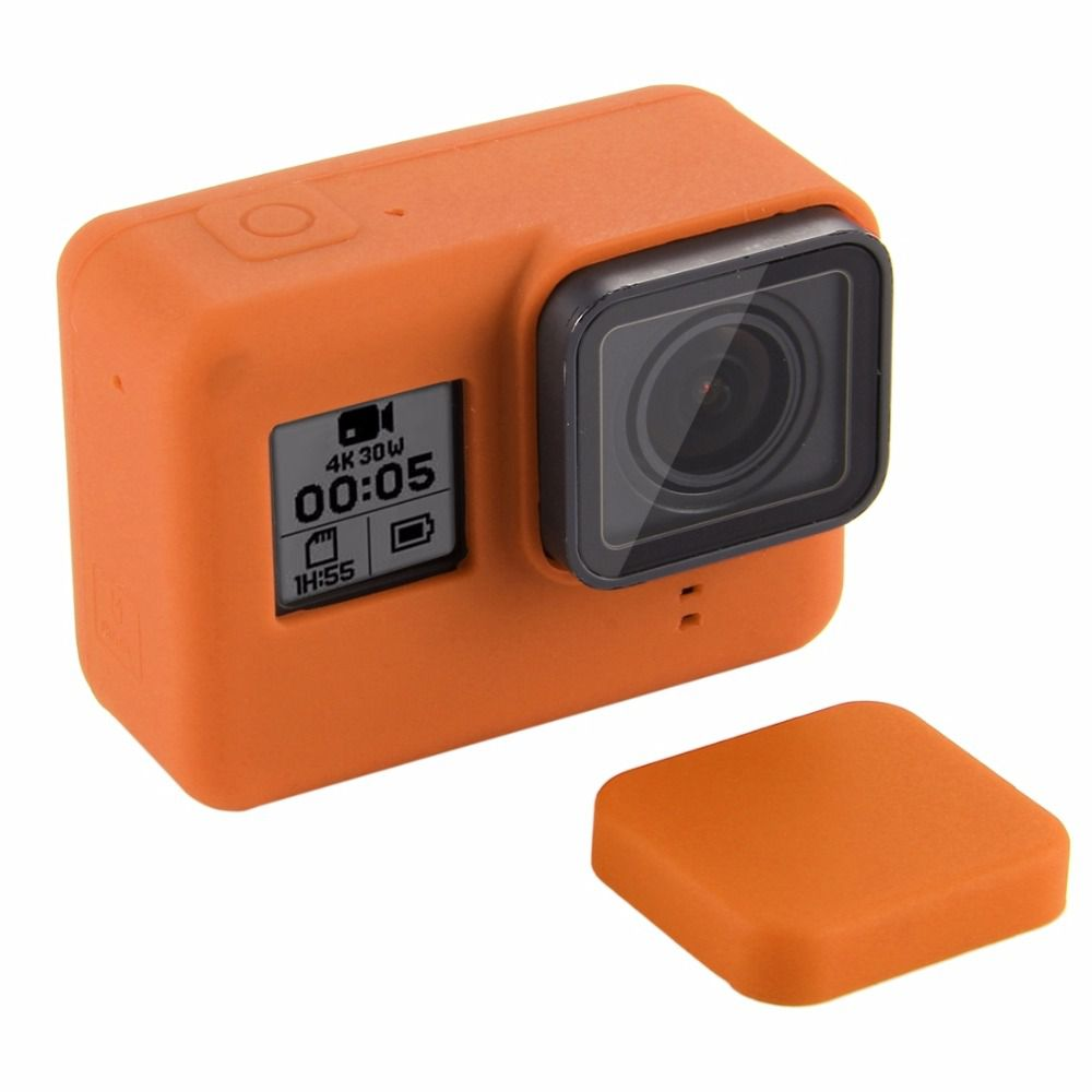 056937033c215 Capa e tampa silicone direto câmera GoPro 5-7 - laranja ...