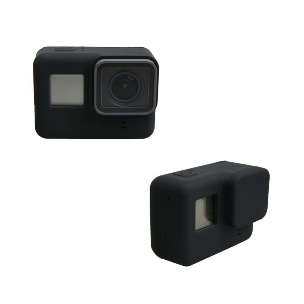 Capa Protetora e Lente  Em Silicone Para Gopro 5/6 Black