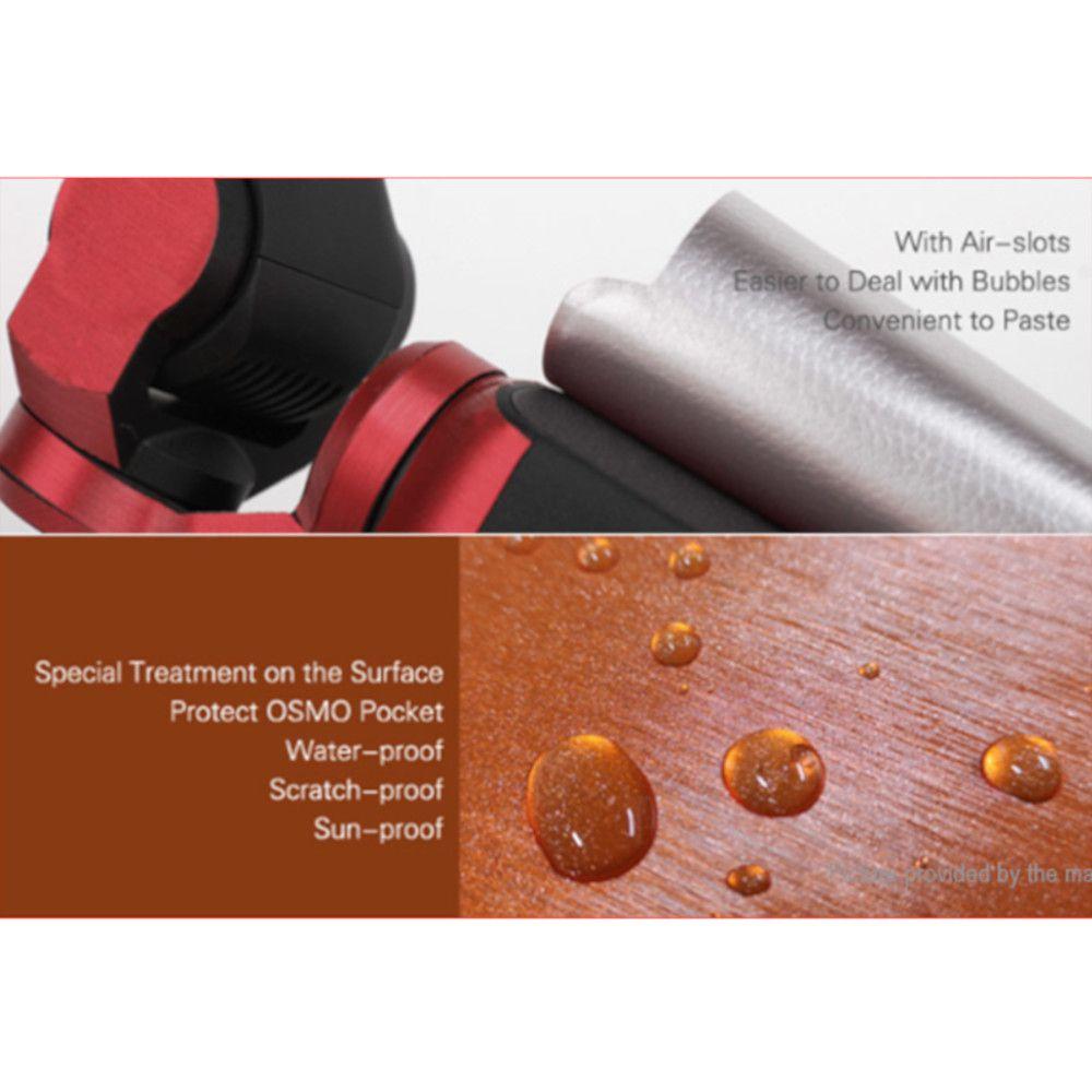Capa Protetora em Adesivo Metálico Vermelho para Dji Osmo Pocket