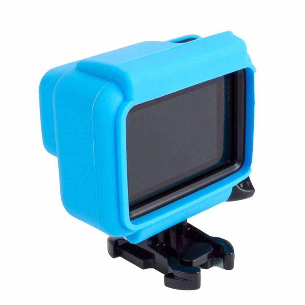 Capa Protetora Em Silicone Para Câmeras GoPro Hero 5, 6, 7 Black -Azul