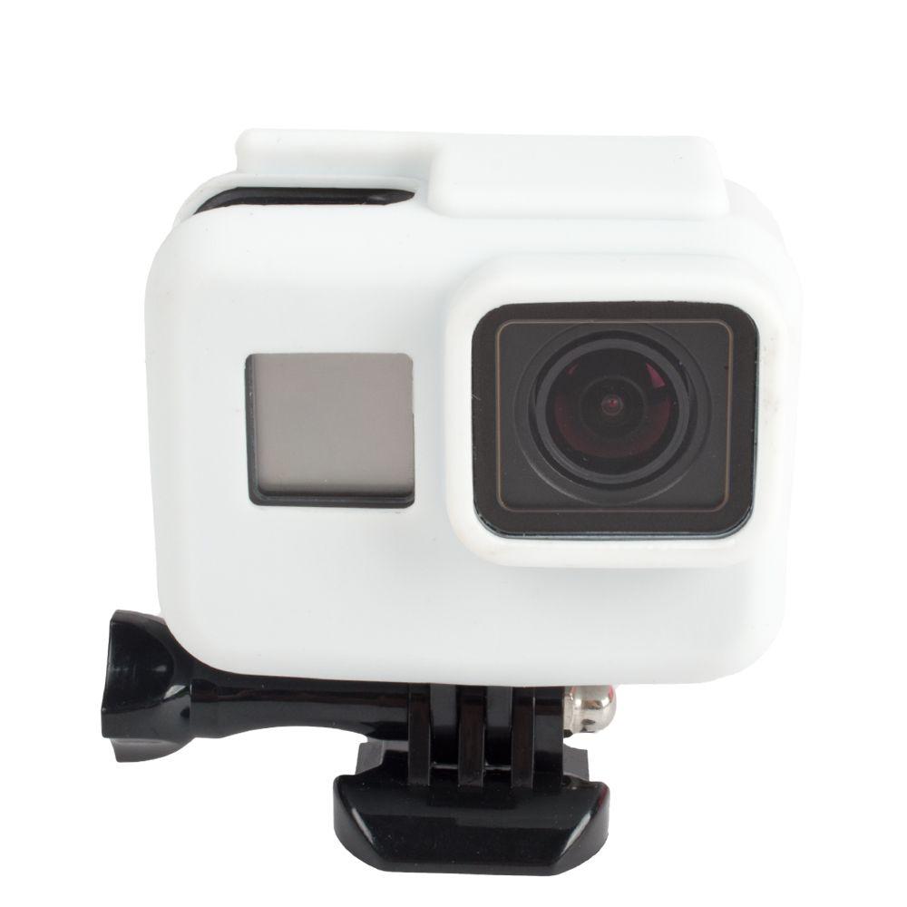 Capa Protetora Em Silicone Para Câmeras GoPro Hero 5, 6, 7 Black -Branca