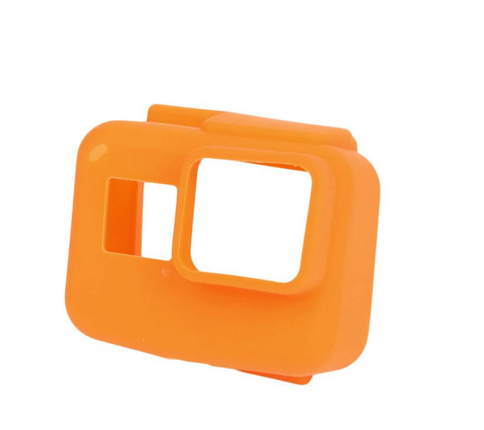 Capa Protetora Em Silicone Para Câmeras GoPro Hero 5, 6, 7 Black -Laranja