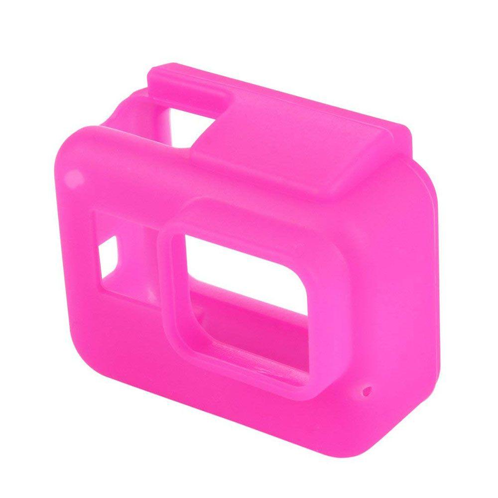 Capa Protetora Em Silicone Para Câmeras GoPro Hero 5, 6, 7 Black -Rosa