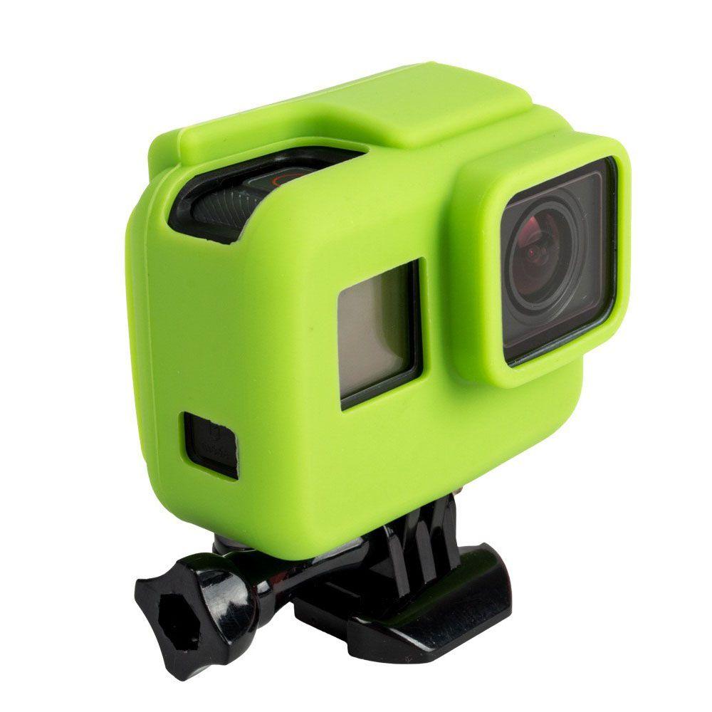 Capa Protetora Em Silicone Para Câmeras GoPro Hero 5, 6, 7 Black -Verde