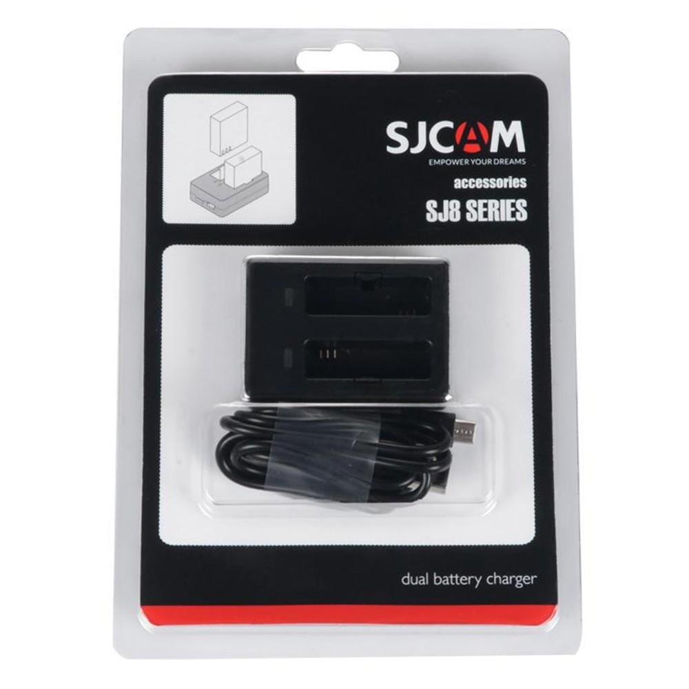 Carregador Duplo de Bateria Original para Câmeras SJCAM SJ8 Series