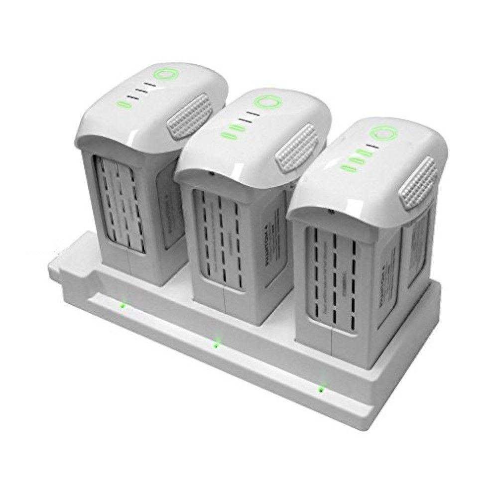 Carregador Hub para 3 Baterias do Drone Dji Phantom 4 / Pro / Pro+