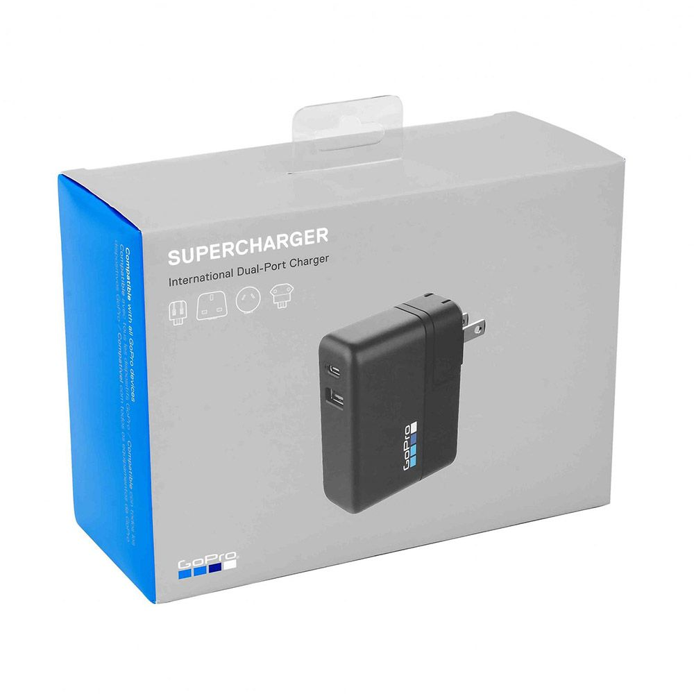 Carregador Original de Parede Dual Supercharger para GoPro Hero