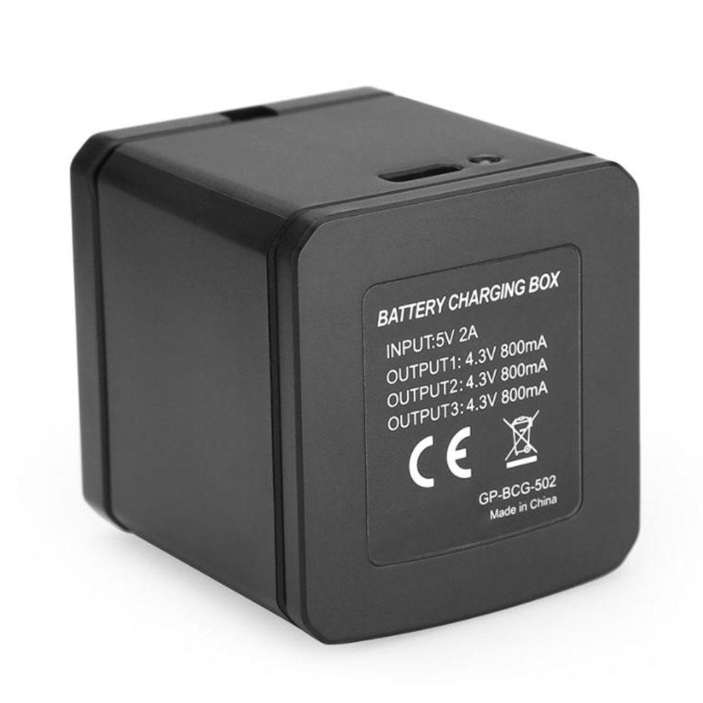 Carregador Telesin Triplo Storage Box Caixa para GoPro 5-8