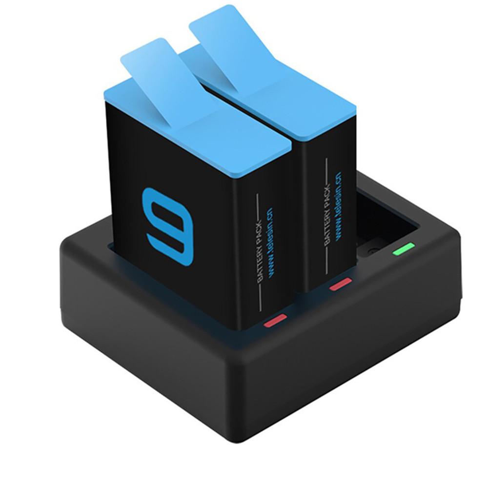 Carregador Triplo + 2 Baterias Telesin para  GoPro 9 Black
