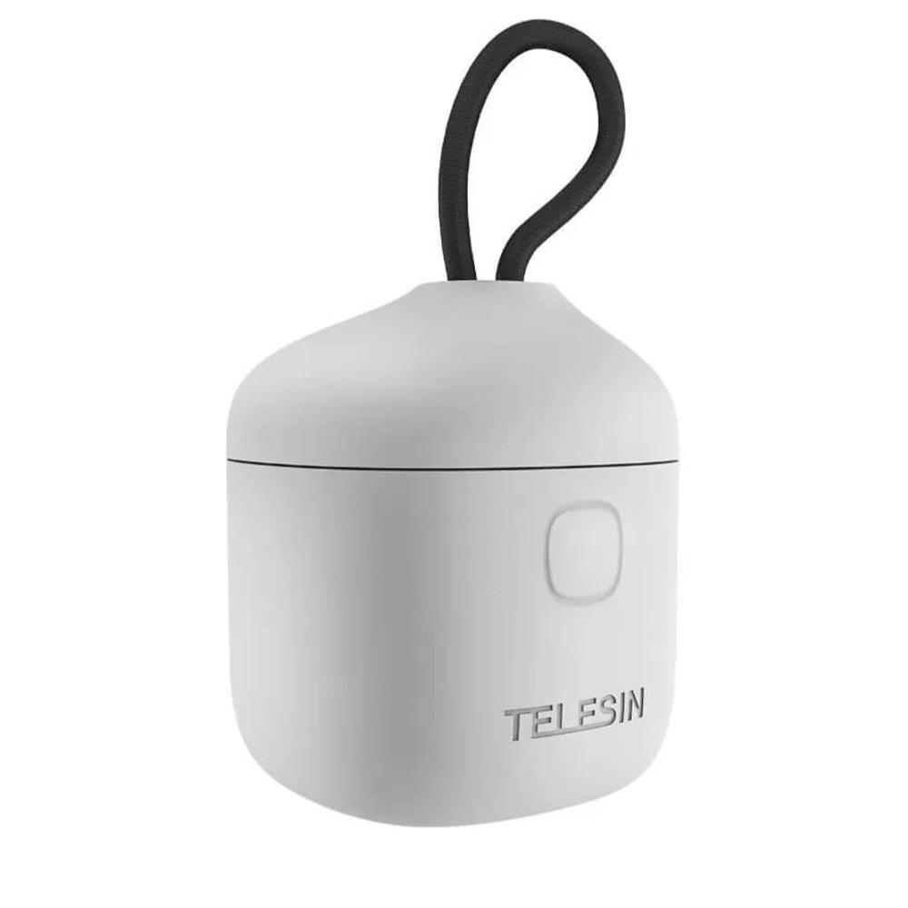 Carregador Triplo Telesin Para GoPro Hero 9 e 10 black - Branco