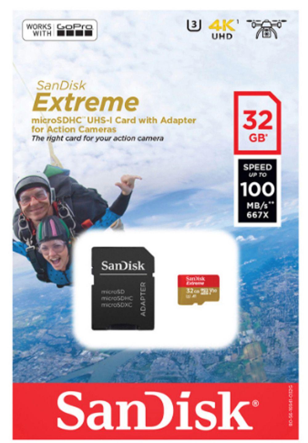 Cartão Memória SanDisk Extreme MicroSdhc 32gb 100MBs