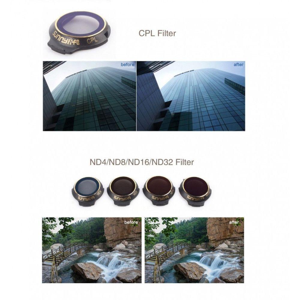 Conjunto 6 Filtros para Drone DJI Mavic Pro ND4 ND8 ND16 ND32 MCUV CPL