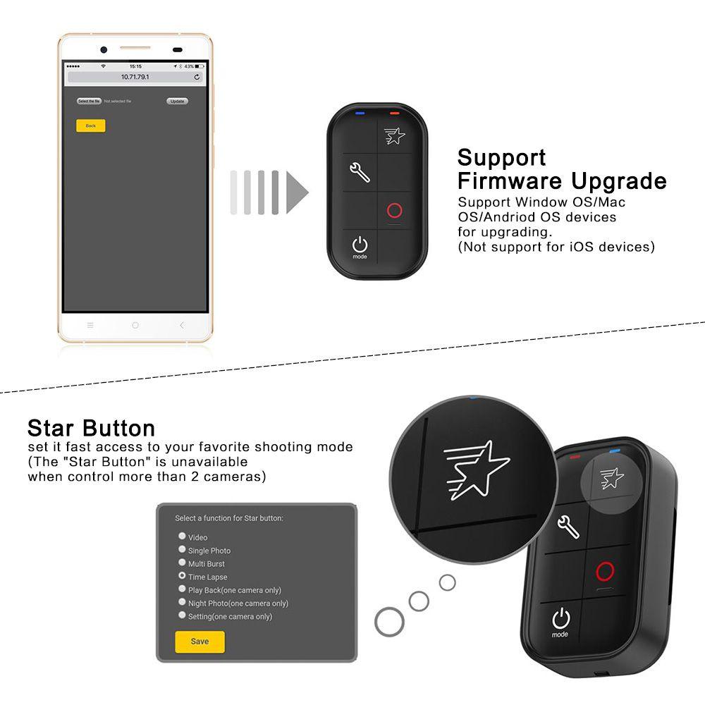 Controle Remoto Smart Remote Wi-fi para GoPro