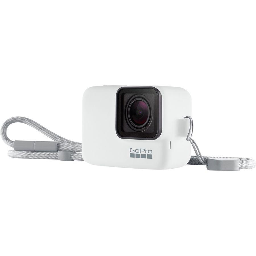 Capa de Silicone + Cordão GoPro Sleeve Branco Original ACSST-002 Hero 5/6/7