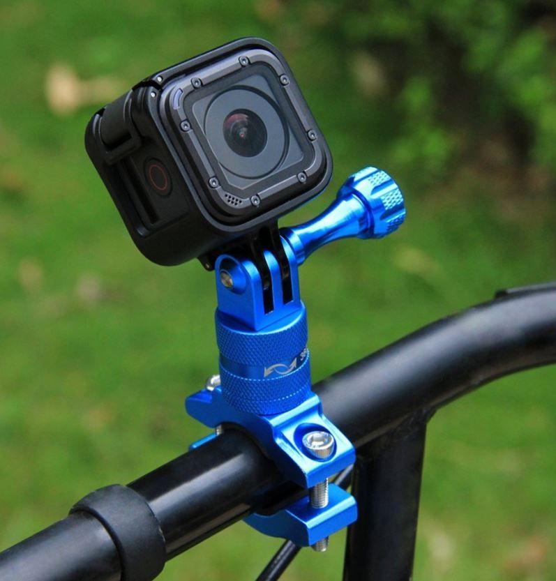 Gopro Suporte Aluminio para Bike/Moto/Cubos 360 - Azul