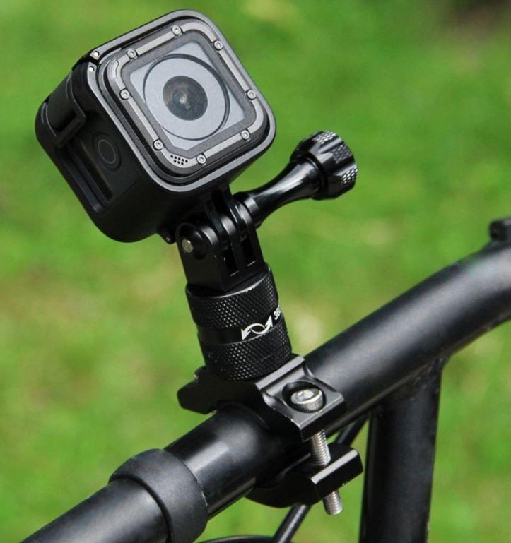 Gopro Suporte Aluminio para Bike/Moto/Cubos 360 - Preto