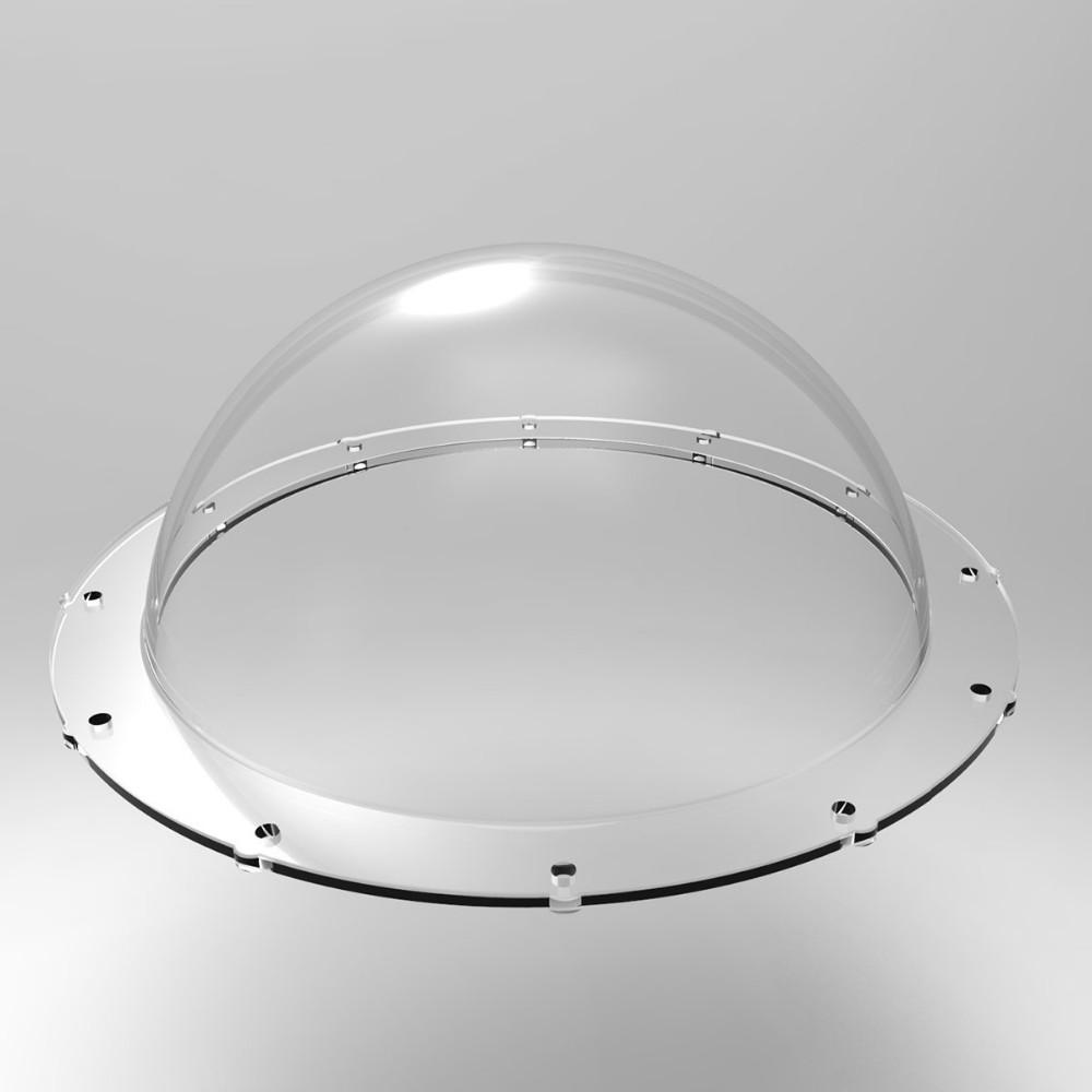 Cúpula Acrílica Transparente de Reposição P/ Domes 6 Polegadas - Telesin